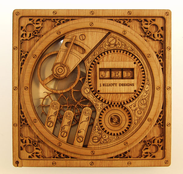 Clockwerk CD/DVD Case - J. Elliott DesignsJ. Elliott Designs